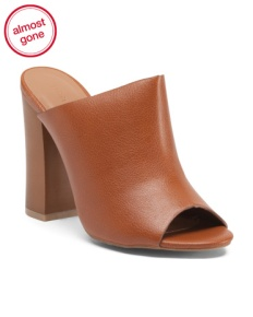 Open back mules are back! Shop for these Bamboo tan ones from TJ Maxx for only 19.99! Hurry! They're almost gone!
