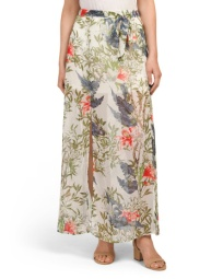 Ultimate comfort and style meet with this island inspired maxi skirt from TJ Maxx! It's complete with 2 side splits and is just $19.99!