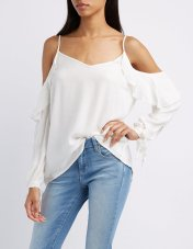 This breezy top from Charlotte Russe quietly lets people know that you are embracing your love of clean romanticism. And for $21.99, you're also embracing your love of saving money!