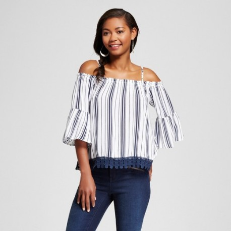 Stripes are another trend coming up this summer and this $19.99 top from Target is the perfect blouse to transition from Spring to Summer without missing a beat.